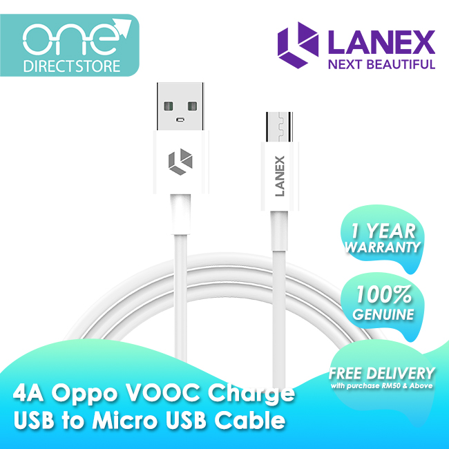 Lanex 4A Oppo VOOC Charge USB to Micro USB Cable 1M - LTC P02