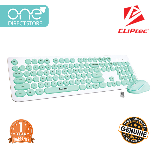 CLiPtec YOUNG AIR Wireless Keyboard and Mouse Combo Set RZK340