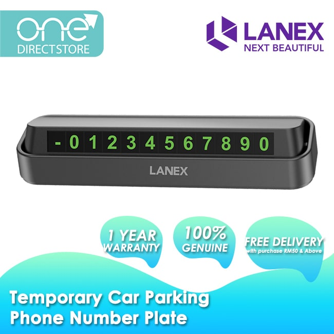 Lanex Creative Temporary Car Parking Phone Number Plate - LHO-C01