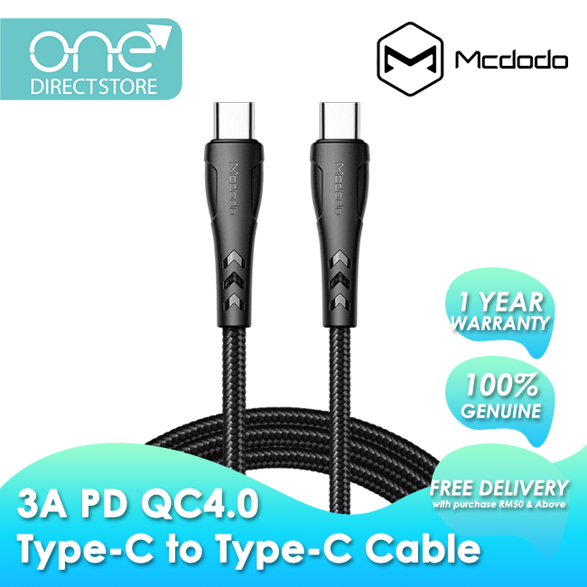 Mcdodo Mamba Series PD QC4.0 Type-C to Type-C Cable 1.2M CA764