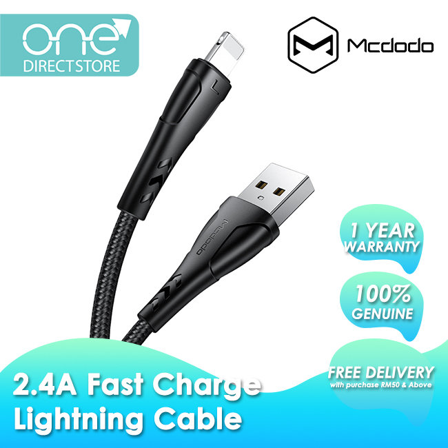 Mcdodo Mamba Series 2.4A Lightning Cable 1.2M CA744