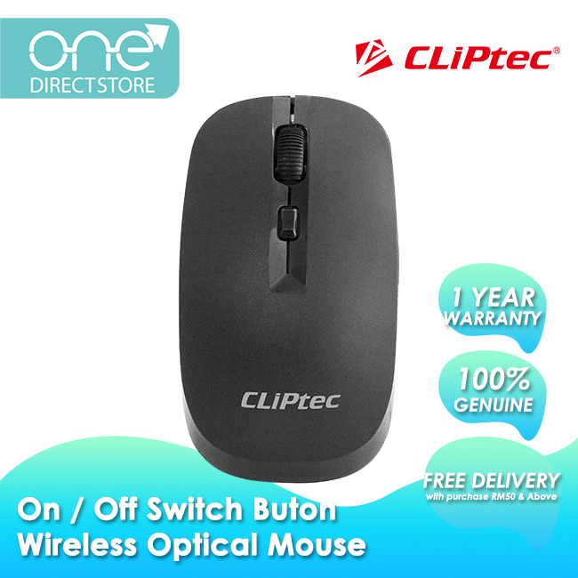 CLiPtec SMOOTHMAX 1600dpi 2.4Ghz Wireless Optical Mouse RZS801