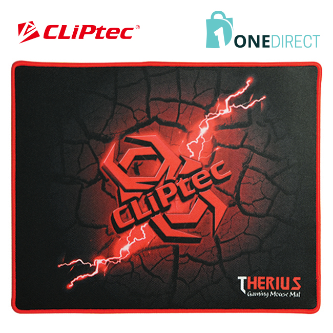 CLiPtec THERIUS Gaming Mouse Mat-RGY358 (Black)
