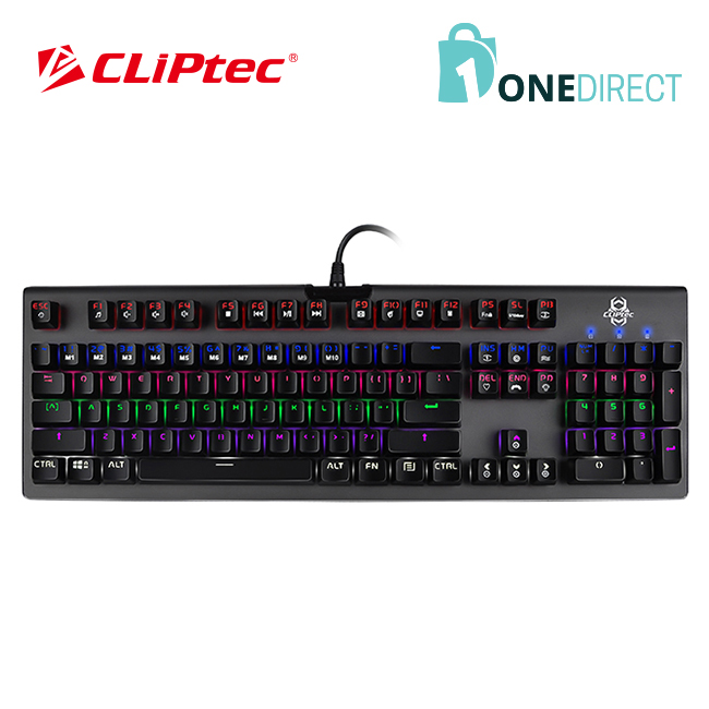 CLiPtec MEGOSOURIUS USB Illuminated Mechanical Pro-Gaming Keyboard RGK827