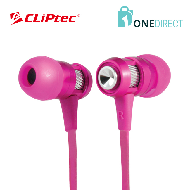 CLiPtec HALLO In-Ear Earphone with Microphone-BME747 (Pink)