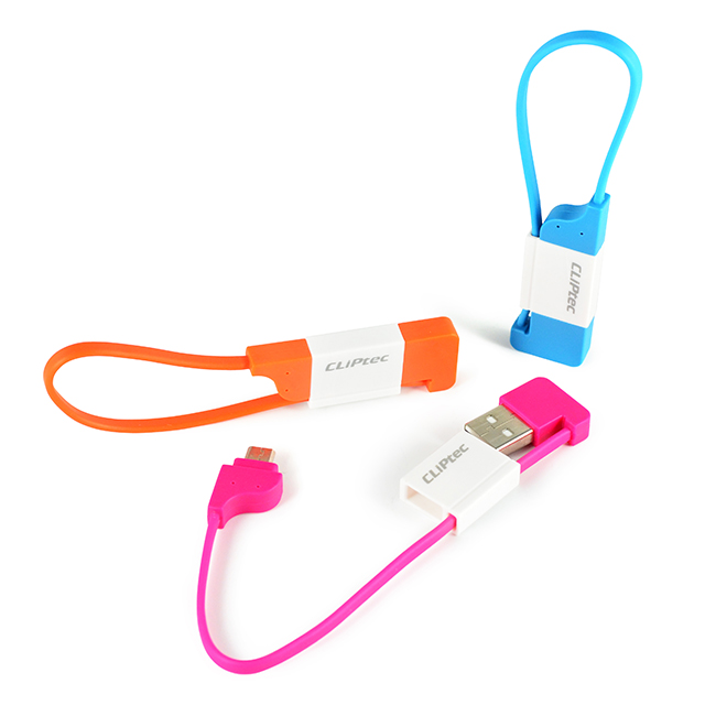 CLiPtec THE LOCK Slim Flat USB 2.0 Micro-B Cable OCC100