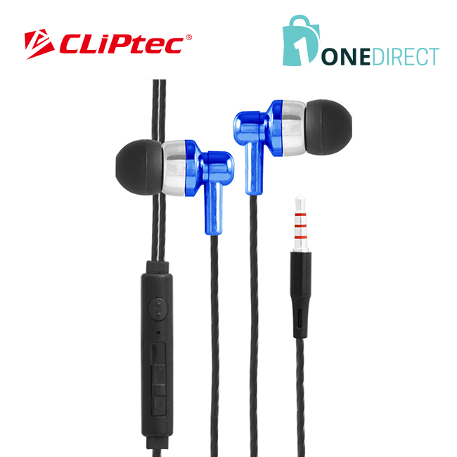CLiPtec FIESTA-WAVE In-Ear Earphone with Mic. & Volume Control BME606