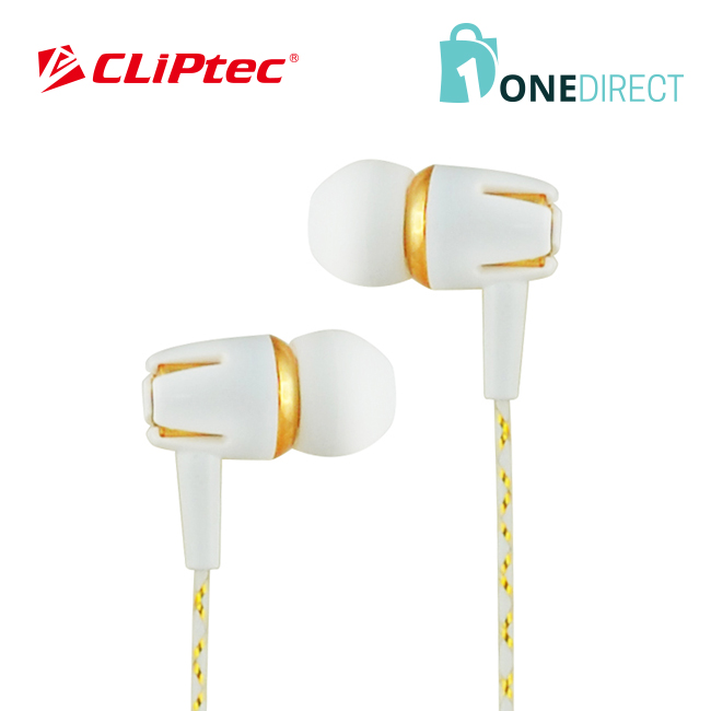 CLiPtec WHITE PARTY In-Ear Earphone with Microphone & Volume Control BME898