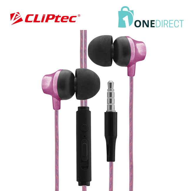 CLiPtec URBAN MUSIC Earphone with Mic. & Volume Control BME626
