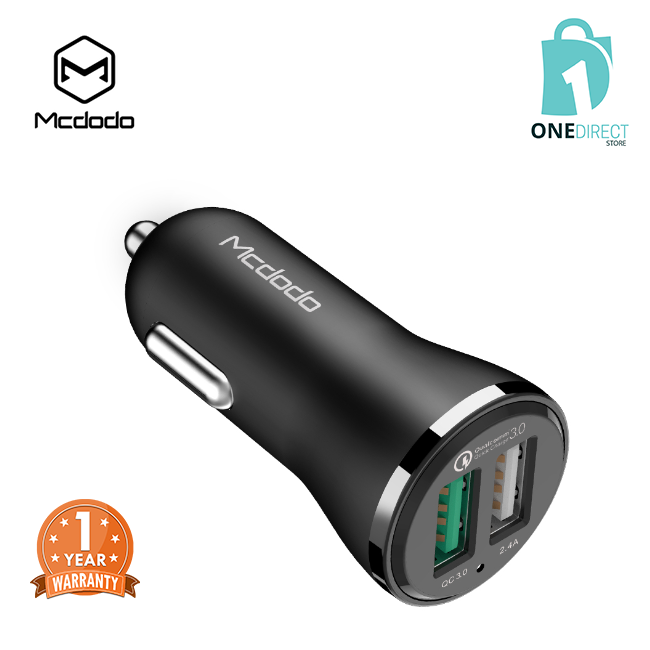 Mcdodo QC3.0 2.4A Dual USB Ports Car Charger