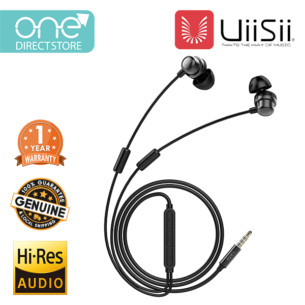 UiiSii Hybrid Balanced Armature & Dynamic Driver With Double Microphone In-Ear Earphone - K8