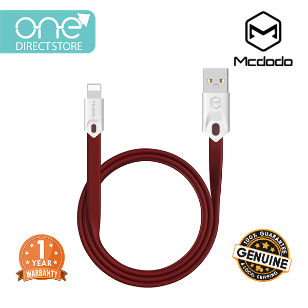 Mcdodo USB AM To Lightning Data Cable 25CM (Red) - CA031